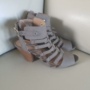 Call it Spring taupe sandals with heel